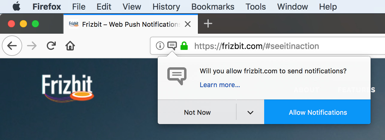 Firefox Push Notifications, Features, Examples & Updates | Frizbit