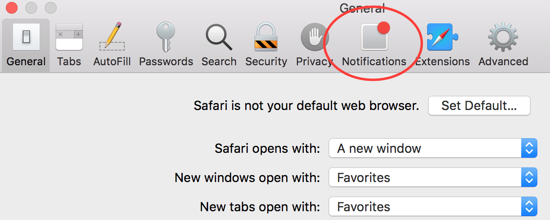 How to Disable Push Notifications on Safari Step 2