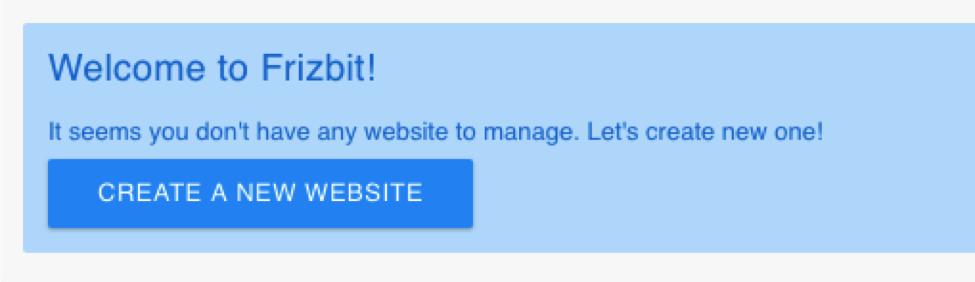 frizbit create a website screenshot