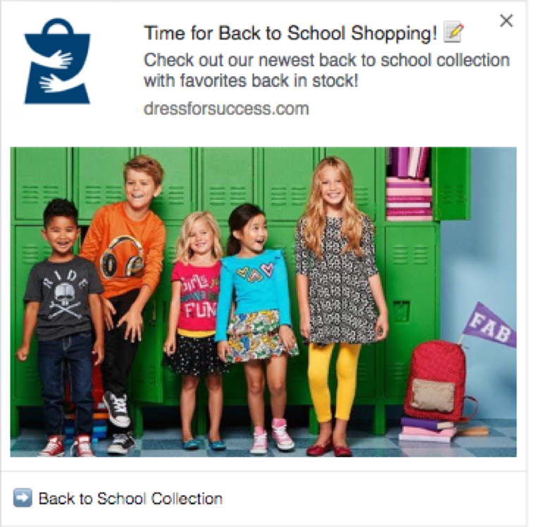 Back to School Shopping Campaign Screenshot