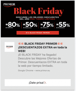 black friday pus notification example