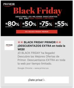 black friday pus notification example