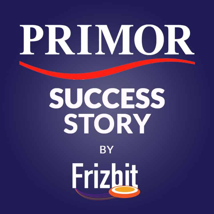 Primor Success Story by Frizbit web push notifications