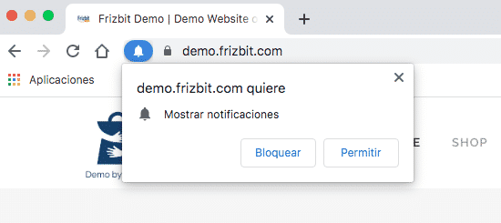 Solicitud Opt-in nativo notificaciones web push
