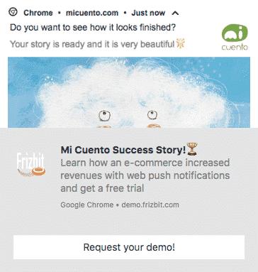 Saas web push notification example