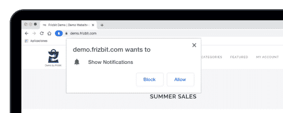 Web Push Notification Browser Prompt Opt-in