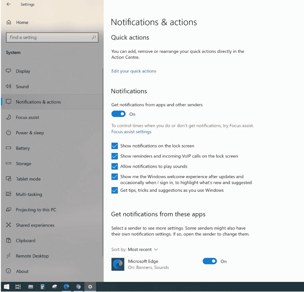 How to enable web push notifications on windows
