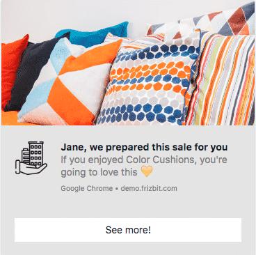 Post Purchase Reminder Web Push Notification