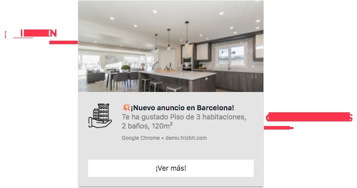Marketing para Inmobiliarias Notificaciones Push Web