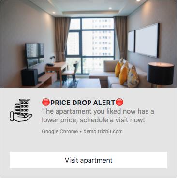 Real Estate Marketing Web Push Notifications