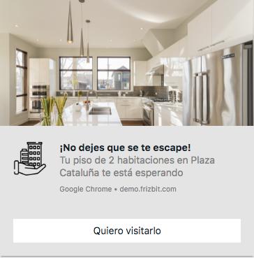 Notificación Push Web Inmobiliaria