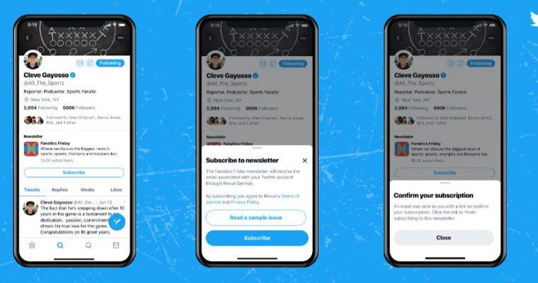Twitter agrega Botón para Suscribirse