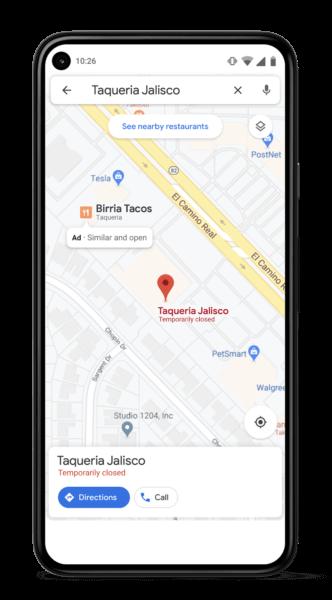 Google Similar Places Ad