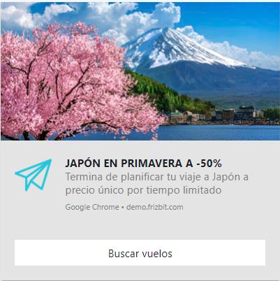 notificación push web turismo