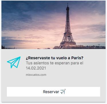 Notificación Push Web Viajes